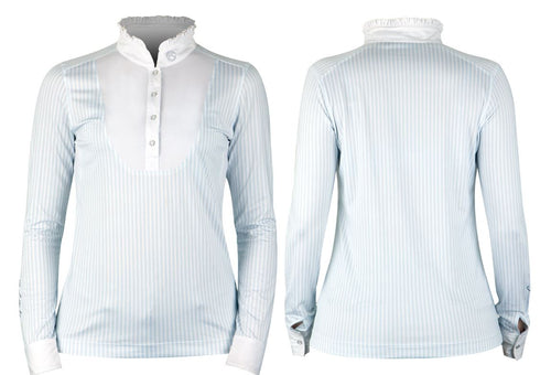 PS of Sweden Doris Polo Shirt Light Blue/White