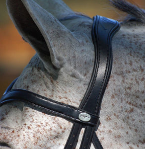 Dy'on Drop Noseband Flat Leather Dressage Bridle