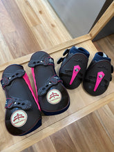 Makebe Temple Tendon and Fetlock Boot set Brown with Pink Inserts