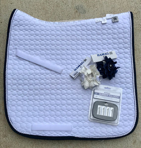 Mattes Dressage Classic Cut Size Large Competition Pad White and Navy
