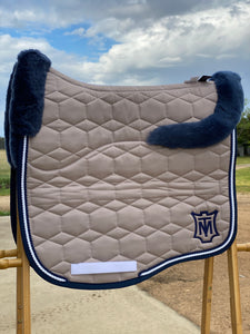 Mattes Large Eurofit Dressage Pad Walnut Sheen and Blue