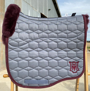 Mattes Eurofit Large Dressage Grey Sheen with Blackberry