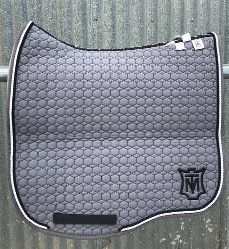 Mattes Eurofit Dressage Pad L or XL - Grey/White/Black