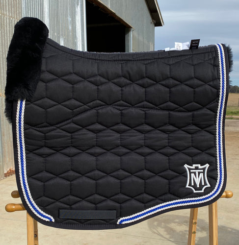 Mattes Eurofit Dressage Pad XL Black Sheen/Royal Blue