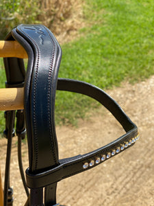 Dy'on Dressage Rolled Semi Custom Snaffle Bridle