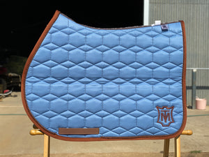 Mattes Square S/J Saddle Pad Large Cornet Blue Sheen