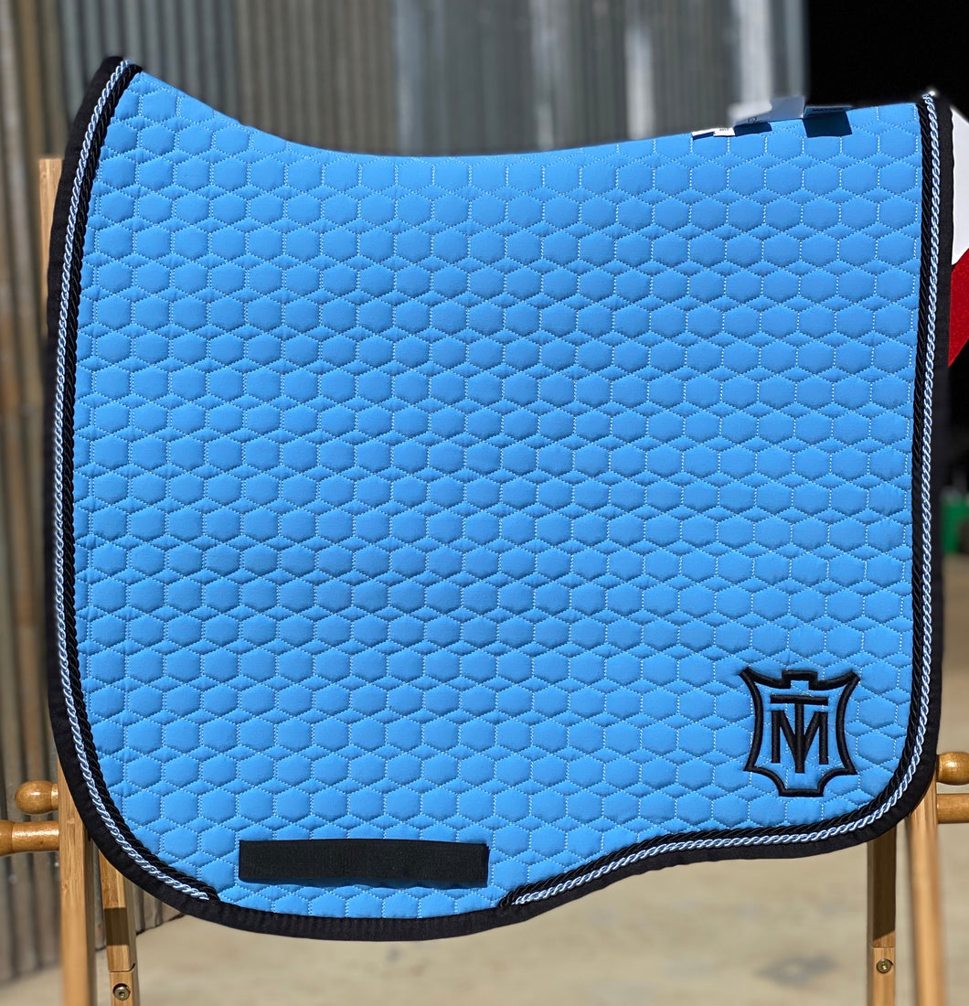 Mattes Eurofit Dressage Pad Large Light Blue/Black