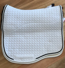 Mattes Eurofit Dressage Pad size Large White with Brown Bottom Fleece