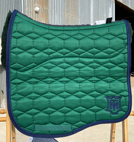 Mattes Eurofit Dressage Pad Large Green Sheen