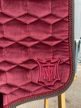 Mattes Eurofit Dressage Pad Large- Bordeaux Velvet with Brown Fleece