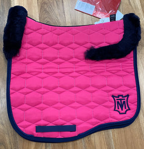 Mattes Eurofit Dressage Pad Large Orchidee Sheen with Navy Top Fleece Only