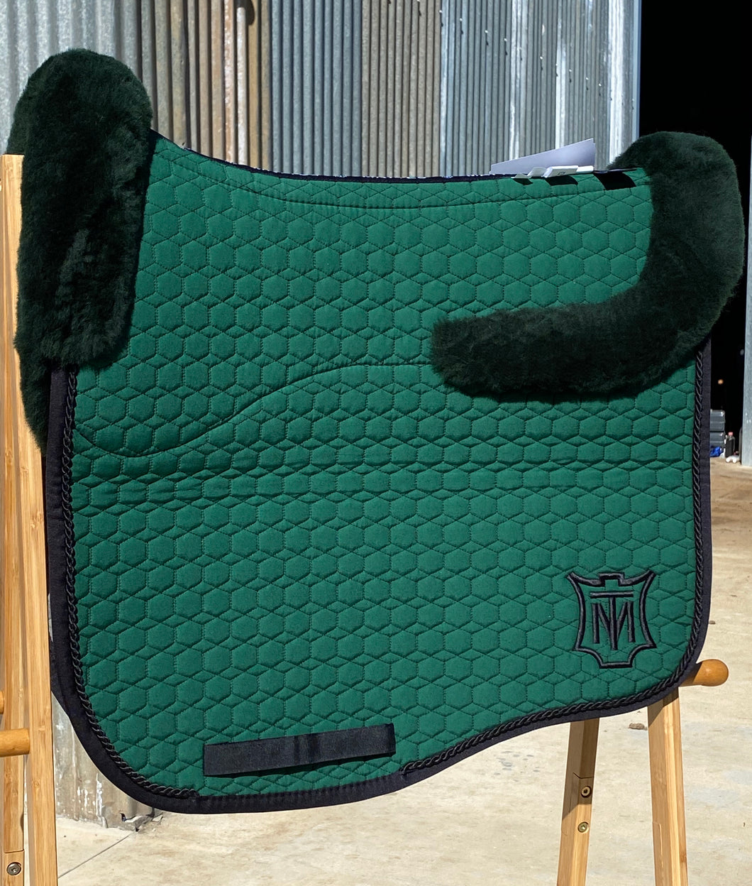 Mattes Large Eurofit Green Dressage Pad Top and Bottom Fleece