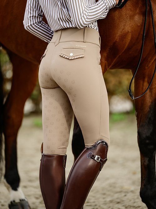 PS of Sweden Nathalie Ruffle Breeches | Beige, Black, Grey