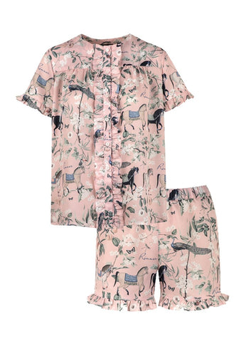 Ronner Pyjama Set | Horse Haven Powder Rose | Preorder