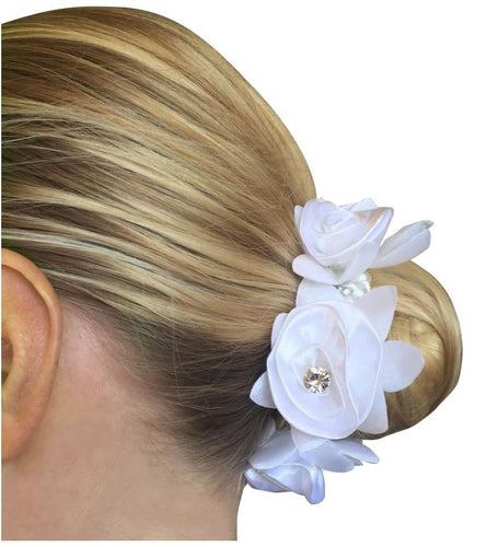 Hamag Rose Petal Scrunchie with Crystal- Choose Colour