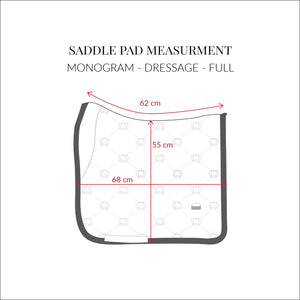 PS of Sweden Limited Summer Monogram Saddle Pad | Sky Blue | Dressage or Jump