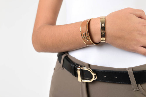Makebe Leather Wave Belt with Stirrup Buckle PREORDER