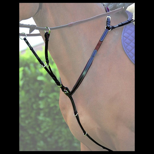Dy'on Working Collection Breastplate With Bridge and Running Martingale