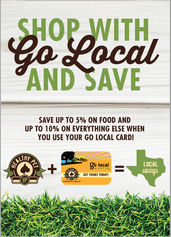 shop local offer 5% on food 10% everything else