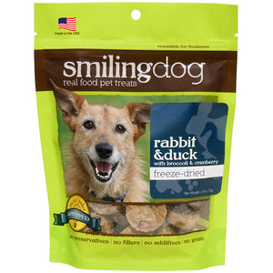 Herbsmith Smiling dog Freeze Dried Rabbit & Duck 2.5 oz.