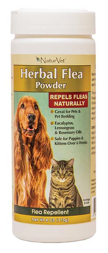 NaturVet Herbal Flea Powder 4oz.