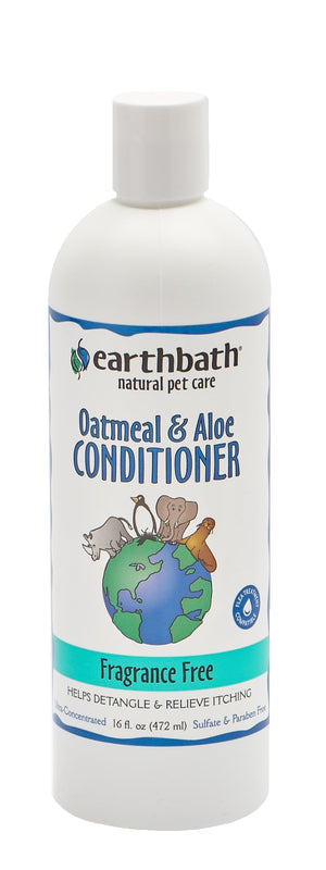 Earthbath Fragrance Free Oatmeal & Aloe Conditioner 16 oz.
