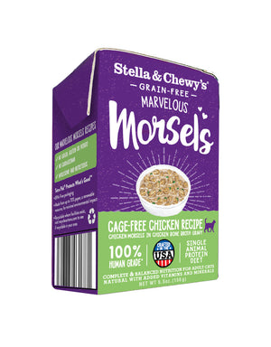 Stella & Chewy's Cat Tetra Pack Morsels Cage-Free Chicken Recipe