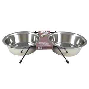 Eat! Stainless Steel Double Diner