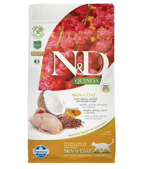 Farmina Cat N&D Quinoa Skin & Coat Quail 3.3 Lb.