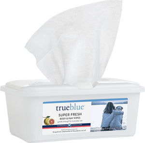 True Blue Super Fresh Body & Paw Wipes 100 ct.