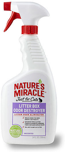 "Natures Miracle ""Just for Cats"" Litter Box Destroyer 24 oz."