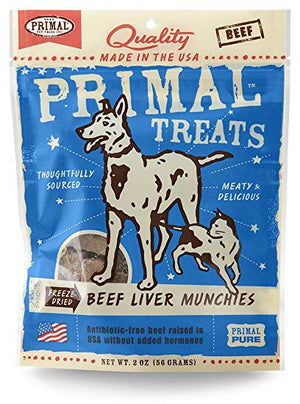 Primal Beef Liver Munchies 2 oz.