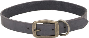 Coastal Circle T Rustic Leather Dog Collar