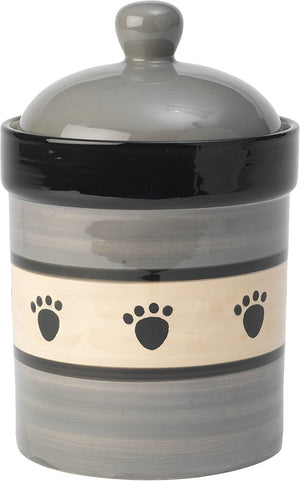 "Petrageous Metro 9"" Treat Jar Gray/Taupe"