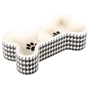 Creature Comforts Houndstooth Bone Bowl