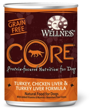 Wellness Core Grain-Free Turkey, Chicken & Turkey Liver Formula