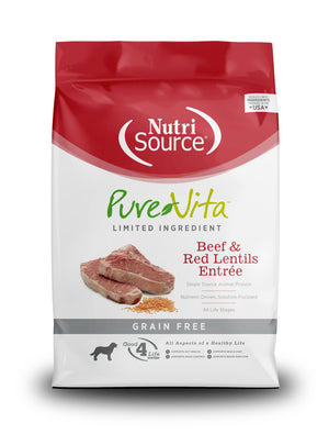 Pure Vita Grain-Free Beef & Red Lentils Entree