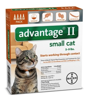 Advantage II for Cats 4-pack