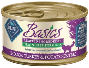 Blue Buffalo Basics Limited Ingredient Grain-Free Indoor Turkey & Potato Entree