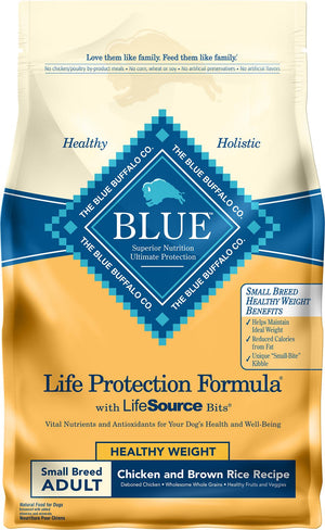 Blue Buffalo Small Breed Adult Healthy Weight 15 Lb.