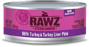 Rawz Cat 96% Turkey & Turkey Liver Pate