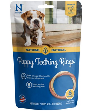 N-Bone Puppy Teething Rings Chicken Flavor