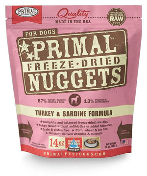 Primal Freeze-Dried Turkey & Sardine Formula
