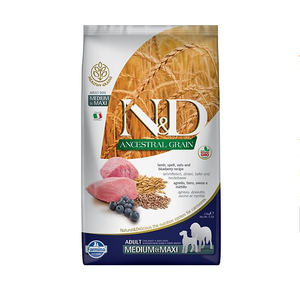 Farmina N&D Ancestral Grain Lamb & Blueberry Medium & Maxi Breed