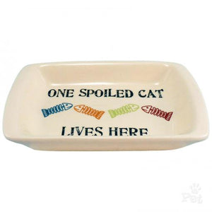 "Petrageous One Spoiled Cat 5"" Rectangle Saucer"