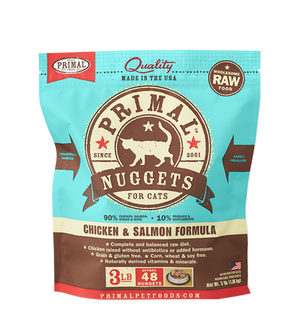 Primal Cat Raw Chicken & Salmon Nuggets 3lbs.