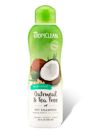 Tropiclean Oatmeal & Tea Tree Shampoo 20 oz.
