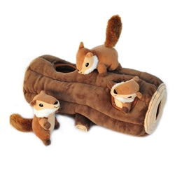 Zippy Paws Burrow Log & Chipmunks