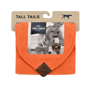 Tall Tails Cape Pocket Towel Orange 27x27