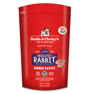 Stella & Chewy's Raw Frozen Absolutely Rabbit Dinner Patties